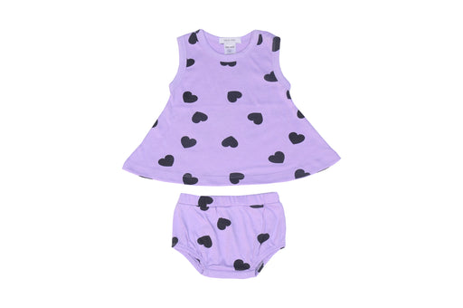 INTERNET EXCLUSIVE! NEW Little Mish Swing Top and Printed Diaper Cover Set - Lilac