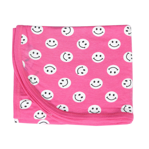 NEW Little Mish Blanket - Bubblegum Smileys (4500503625803)