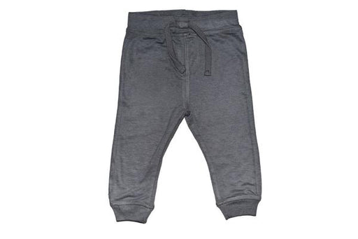 Solid Fleece Sweat Pants - Coal (1484473303115)