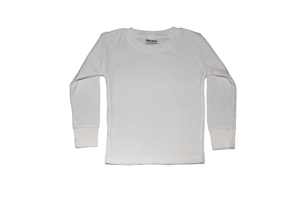Long Sleeve Thermal Shirt - White