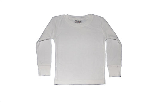 Long Sleeve Solid Thermal Shirt - White