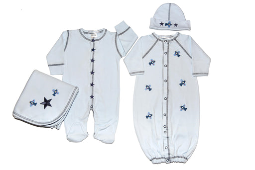 Light Blue Stars and Planes Gift Set