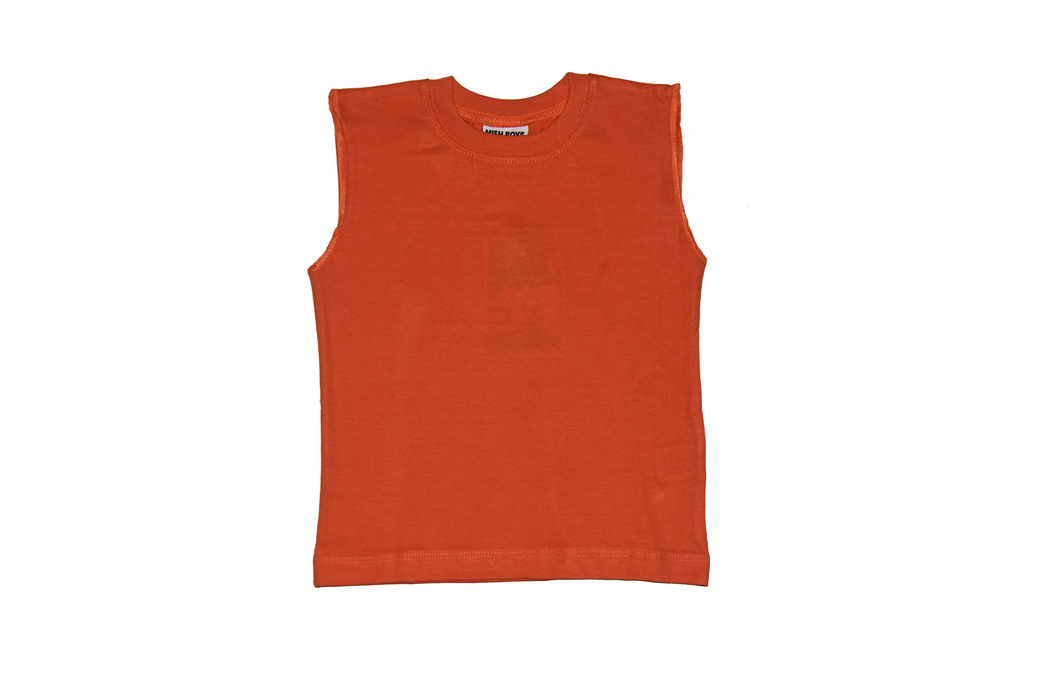 Solid Muscle Tee - Pumpkin (available in 12M only)