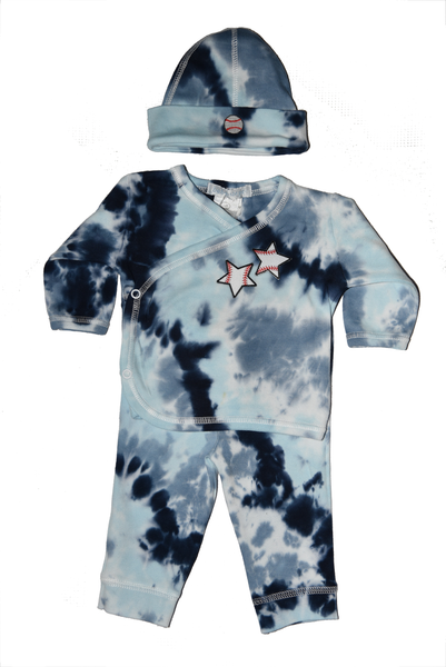 Baby Boy 3 Piece Tie Dye Take Me Home Baseball Star