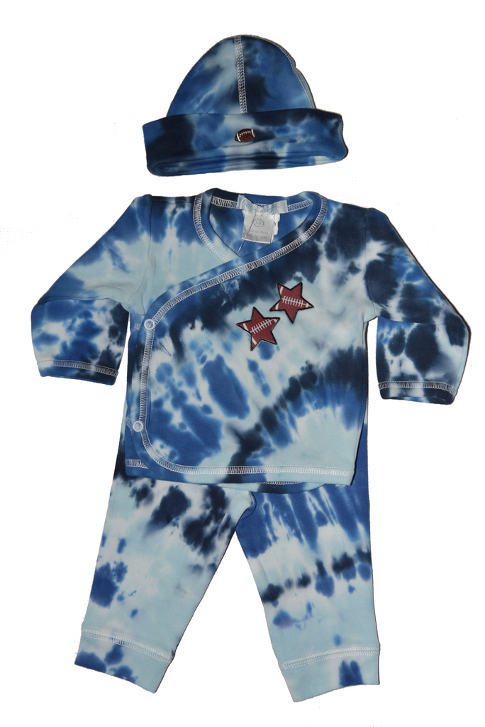 Baby Boy 3 Piece Tie Dye Take Me Home Football Star