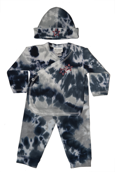 Baby Boy 3 Piece Tie Dye Take Me Home Navy Camo Star