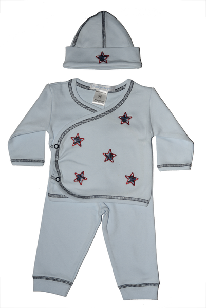 Baby Boy 3 Piece Take Me Home Scattered Navy Camo Stars