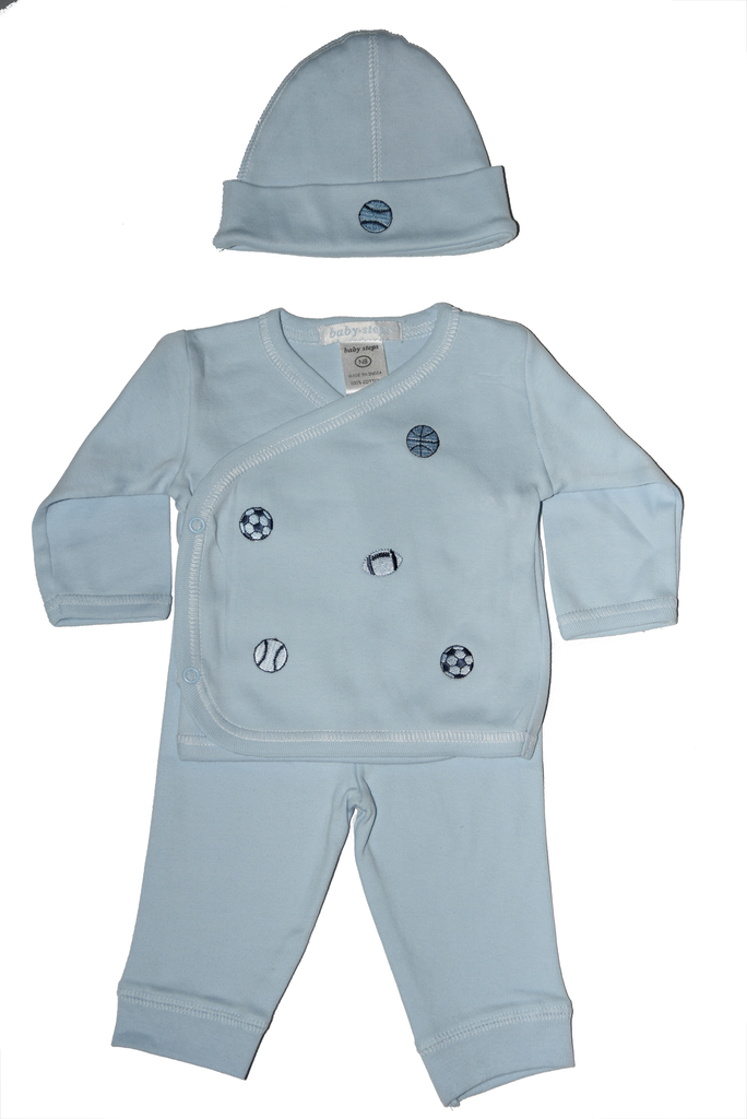 Baby Boy 3 Piece Take Me Home Blue Multi Sports