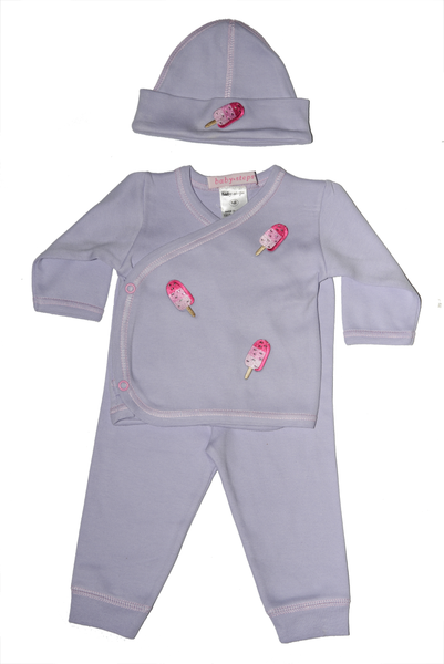Baby Girl 3 Piece Take Me Home Pink Pops