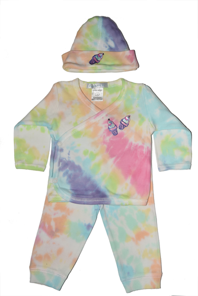 Baby Girl 3 Piece Tie Dye Take Me Home Ice Cream Cones