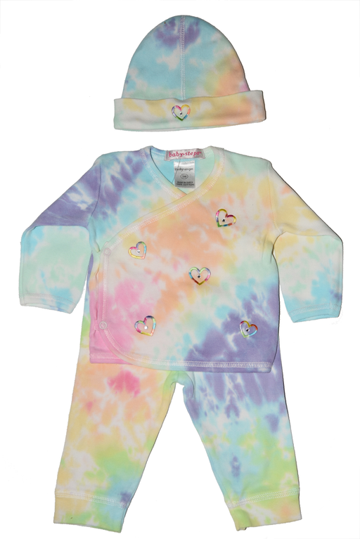 Tie Dye Take Me Home Rainbow Hearts