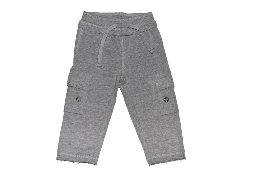 Knit Cargo Pants - Heather Gray