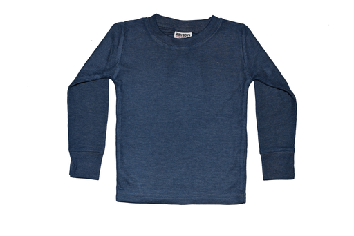 Long Sleeve Solid Thermal Shirt - Navy