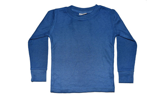 Long Sleeve Solid Thermal Shirt - Cobalt