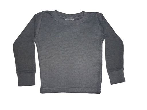 Long Sleeve Solid Thermal Shirt - Coal (4095486525515)
