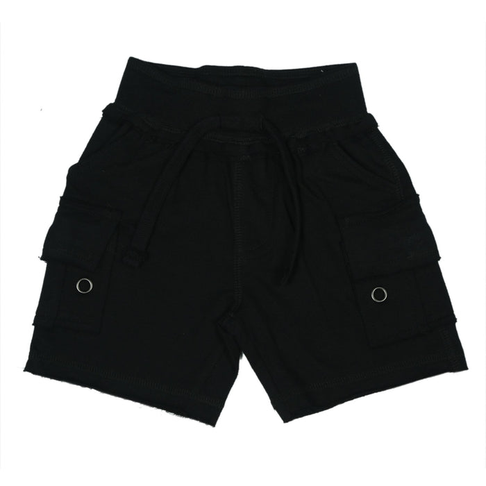 Solid Cargo Shorts - Black (9849781266)