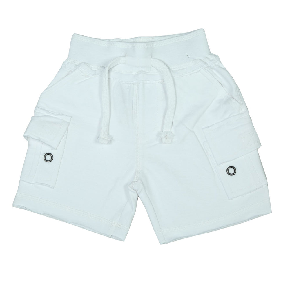 Solid Cargo Shorts - White (165898190866)