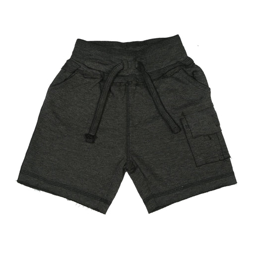 Heathered Cargo Shorts with Single Pocket - Black (9850042578)