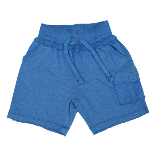 Heathered Cargo Shorts with Single Pocket - Cobalt (9850105298)