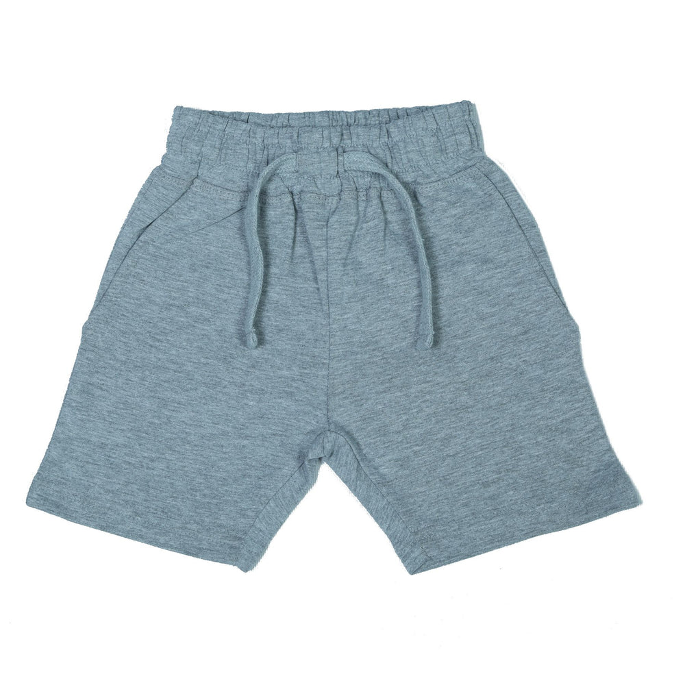 Heathered Comfy Shorts - Heather Gray (1489763663947)