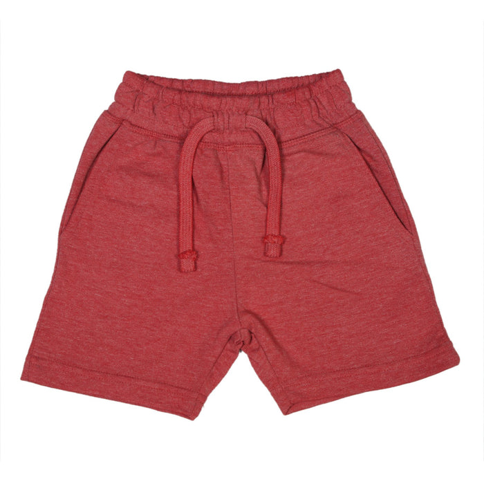 Heathered Comfy Shorts - Red (9850169554)