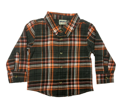 NEW!  Long Sleeve Flannel Shirt (4663964139595)