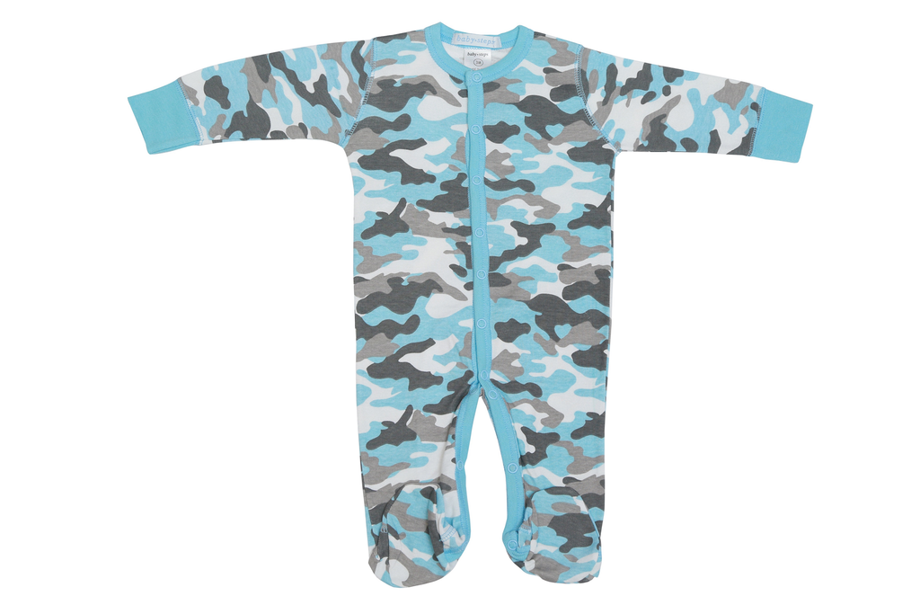 Baby Boy Footie - Blue Camo