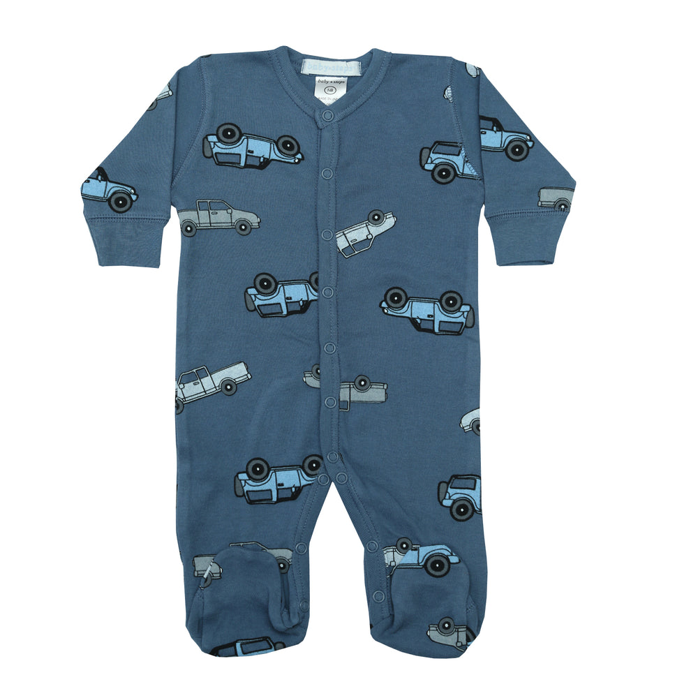 NEW Footie - Cars on Denim (4340173832267)