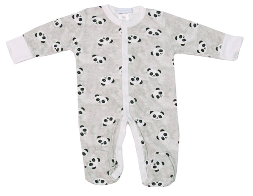 Footie - Pandas on Gray
