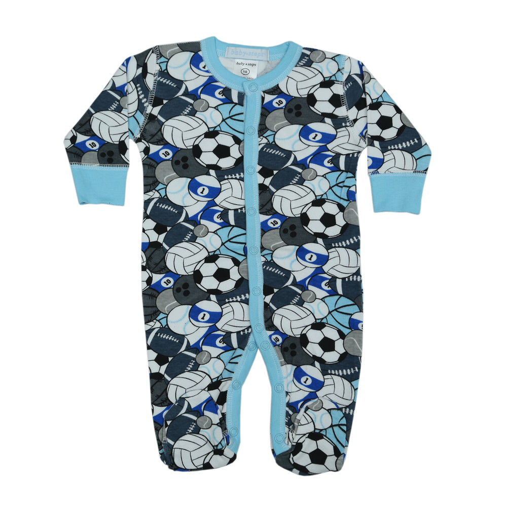 NEW Footie - Blue Sports (4342781050955)