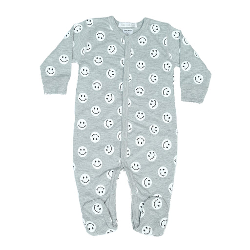 NEW Little Mish Smiley Footie - Heather (4499552337995)