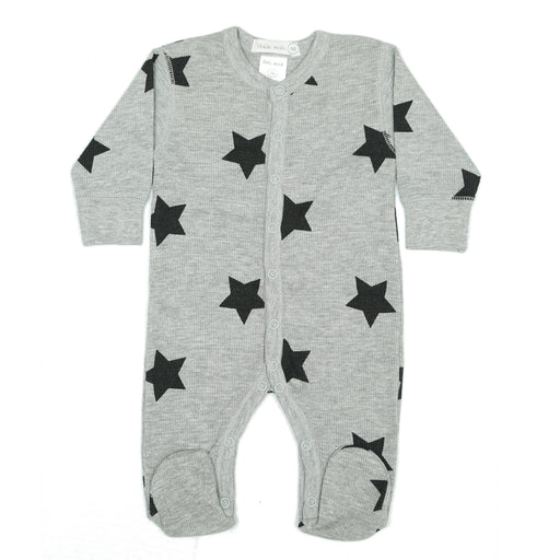 NEW Little Mish Thermal Footie - Heather with Black Stars (3975102726219)