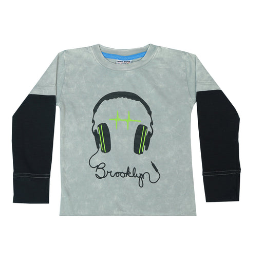 Long Sleeve 2Fer Shirt w Thermal Sleeves - Brooklyn Headphones (3854295138379)