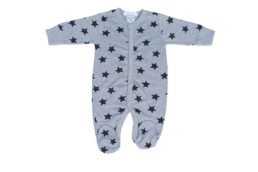 NEW Little Mish Star Footie - Heather (available in NEWBORN only)