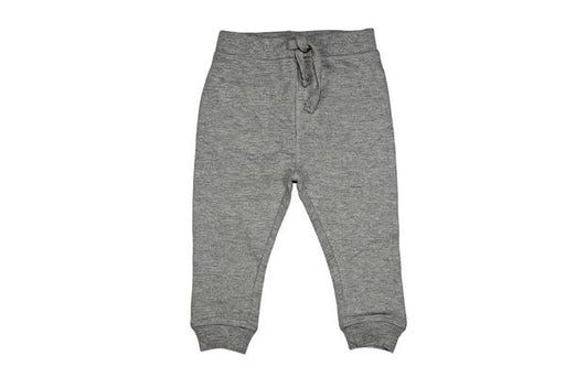Solid Fleece Sweat Pants - Heather Gray (1484472385611)