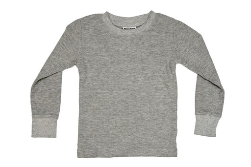 Long Sleeve Solid Thermal Shirt - Heather Gray (8339546505)