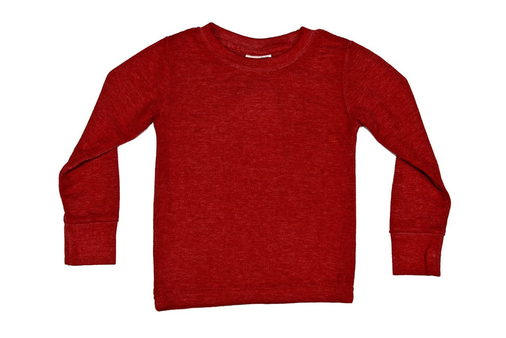 Long Sleeve Thermal Shirt - Red