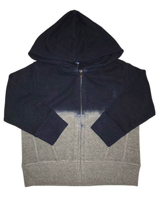 Fleece Dip Dye Hoodie - Navy/Heather (4514363244619)