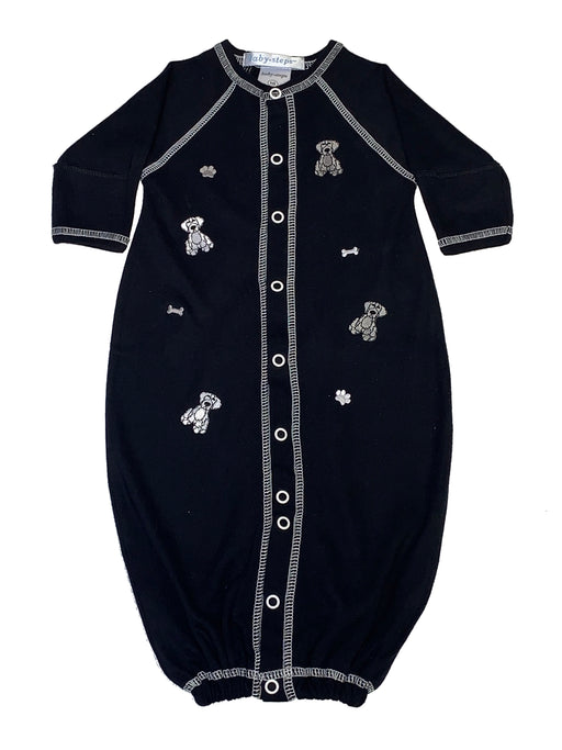 Converter Gown with Doggies on Black (4332145213515)