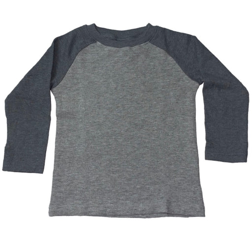 Long Sleeve Raglan Thermal - Heather and Coal (4445683875915)