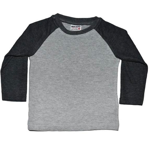 Long Sleeve Raglan Thermal - Heather and Black (22978428946)