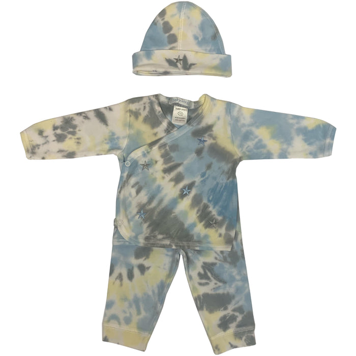 Tie Dye Take Me Home - Blue and Gray Stars - Isaac