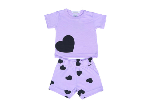 NEW Little Mish Heart Short Set - Lilac