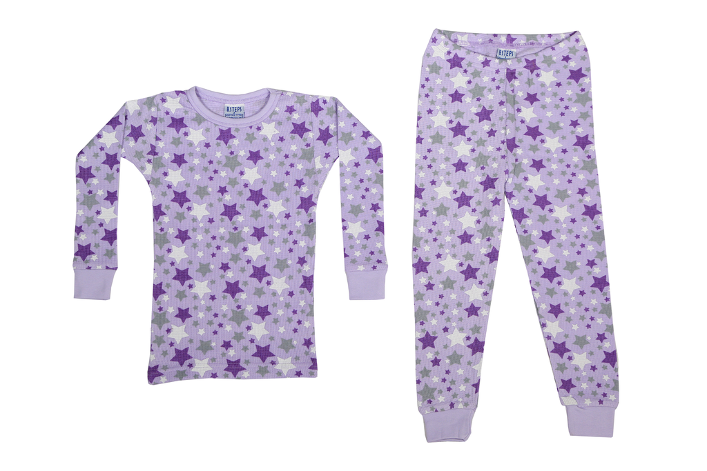 Girls Thermal 2 piece set - Lilac Stars