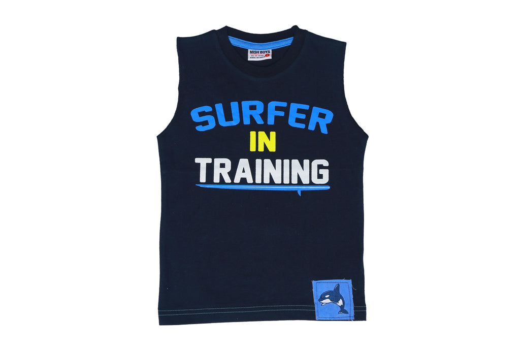 Muscle Tee - Surfer in Training - Navy