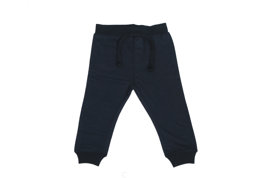 Solid Fleece Sweat Pants - Navy (1473585709131)