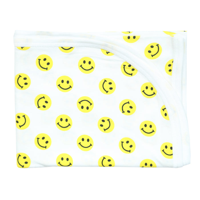 NEW Little Mish Blanket - Yellow Smileys (4500505002059)