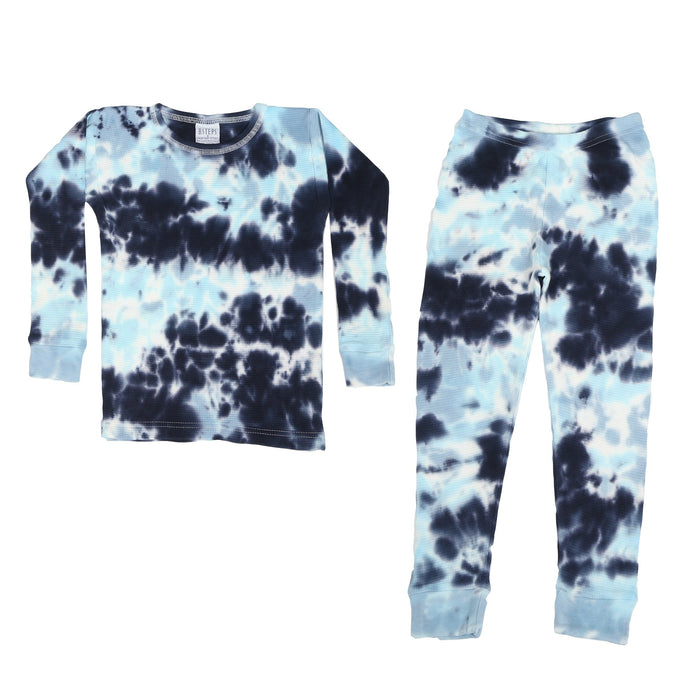 Tie Dye Thermal Pajamas - Ocean (1475151167563)