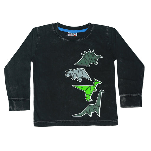Long Sleeve Shirt - Origami Dinos