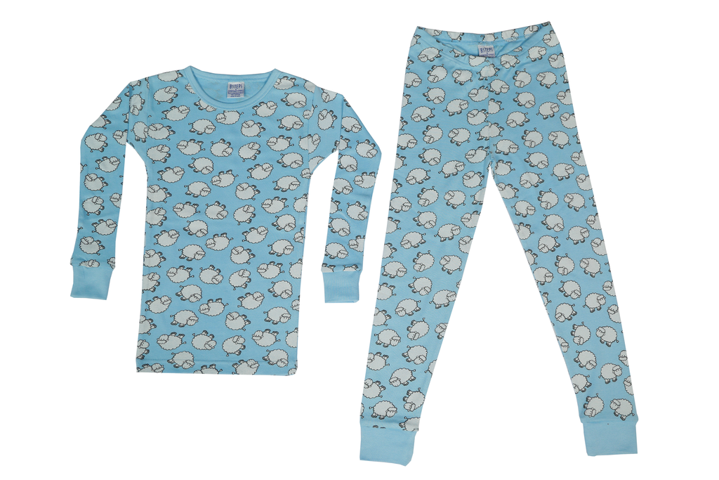 Boys Pajamas - Sheep Blue